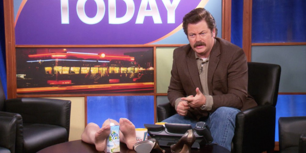 Ron Swanson has seen three movies in his life
