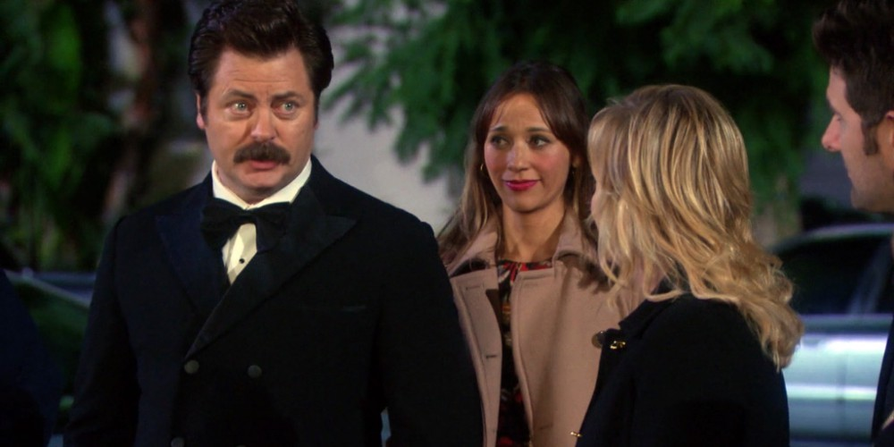 Ron Swanson assisted with a tracheotomy