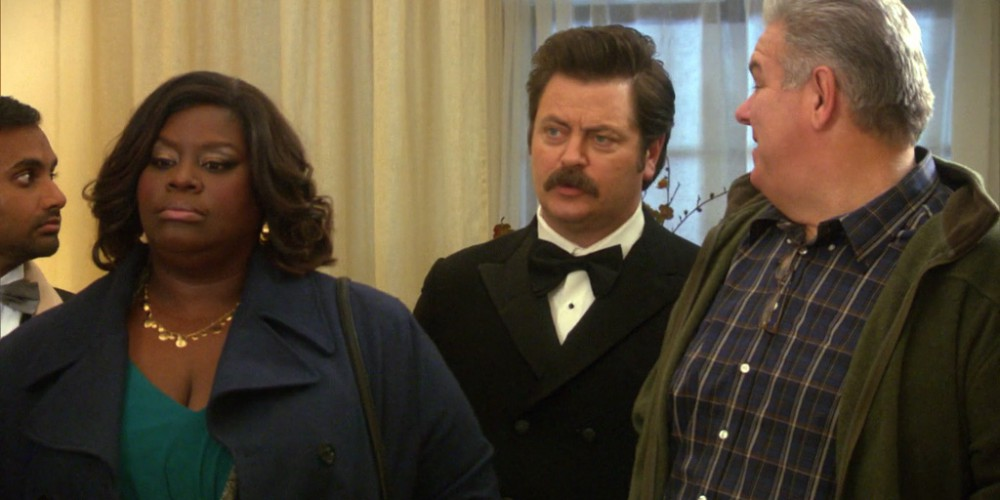 The first time Ron Swanson won't regret walking down the aisle