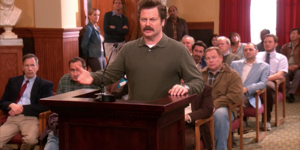 Ron Swanson refuses to allow Leslie to turn Pawnee into a Socialist hellscape