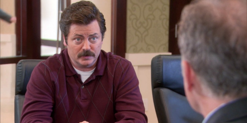 Ron Swanson provides an account of his altercation with Councilman Jamm