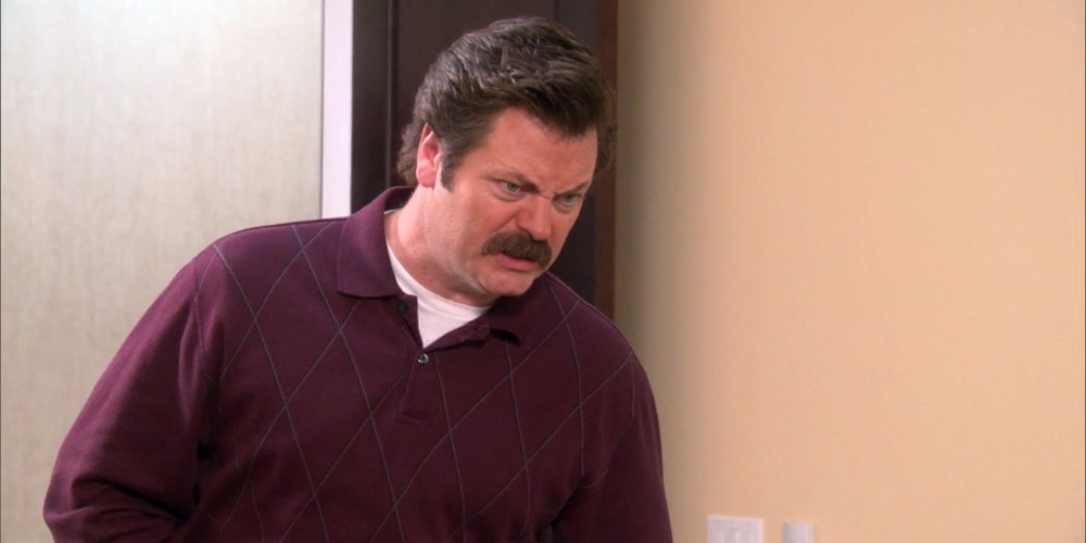 Ron Swanson is worried about being labeled a vegetarian