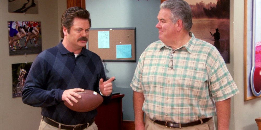 Ron Swanson re-hired the real Jerry back part time