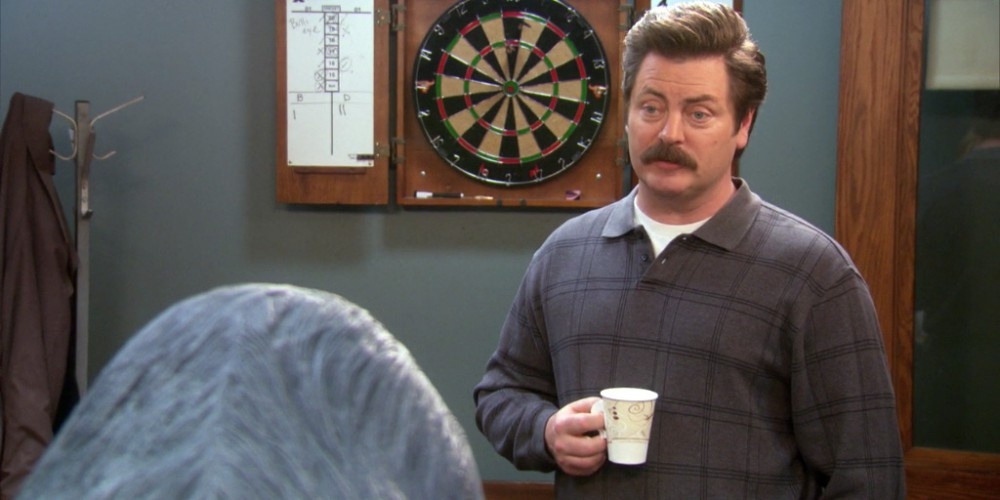 Ron Swanson will not be bullied or shamed over his set of principles