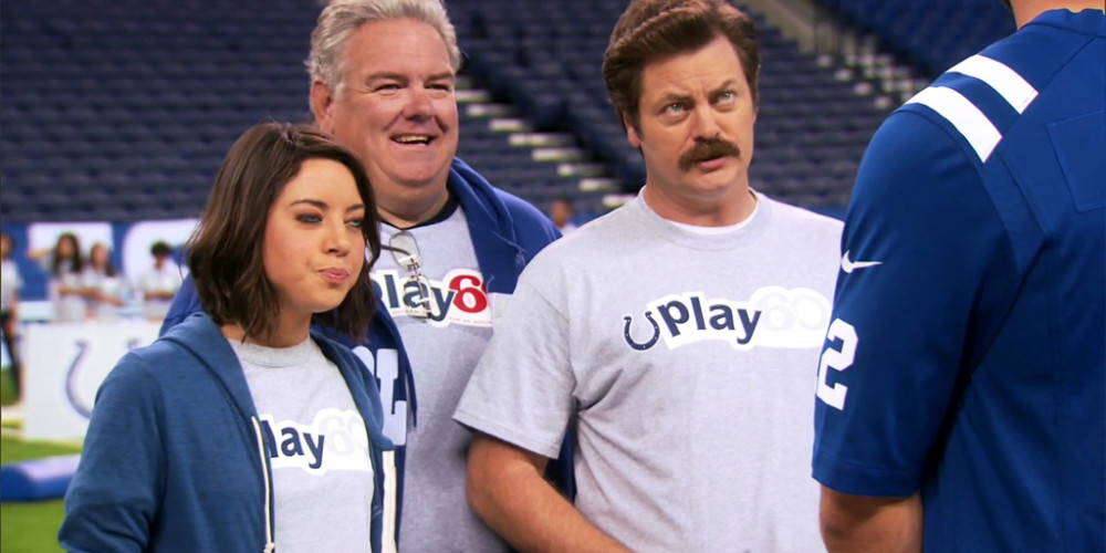 Ron Swanson meets Andrew Luck