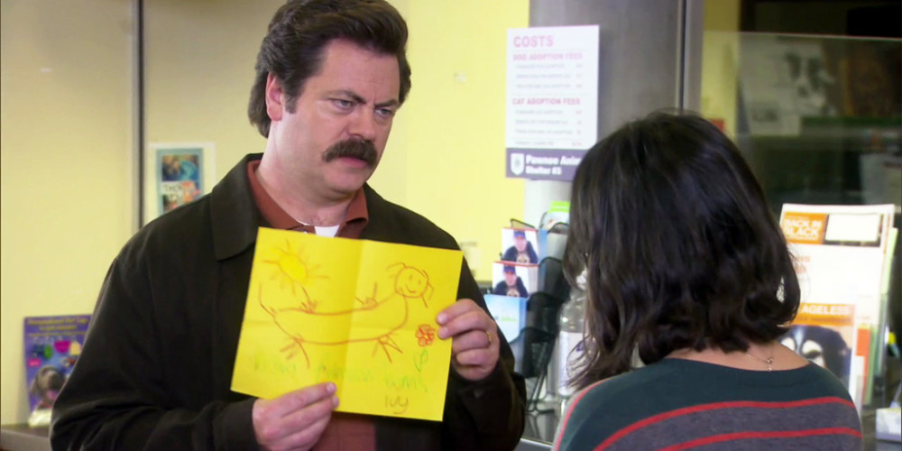 Ron Swanson children are terrible artists