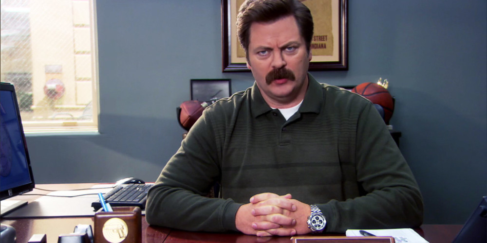 Ron Swanson draws the line at corrupting America's youth