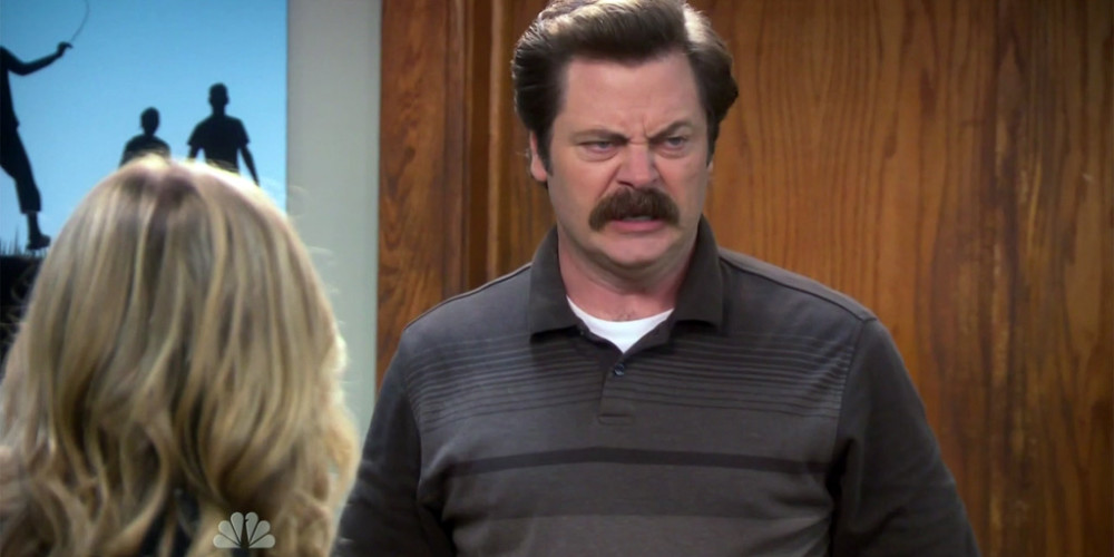 Ron Swanson's claymore mine was a toy filled with balloons and confetti picture1