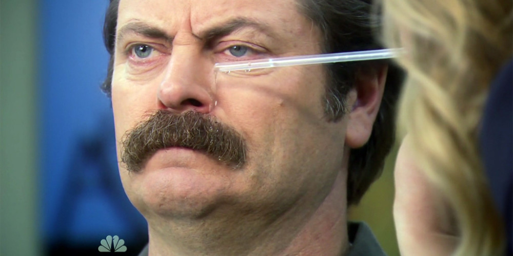 Leslie Knope tortures Ron Swanson picture3