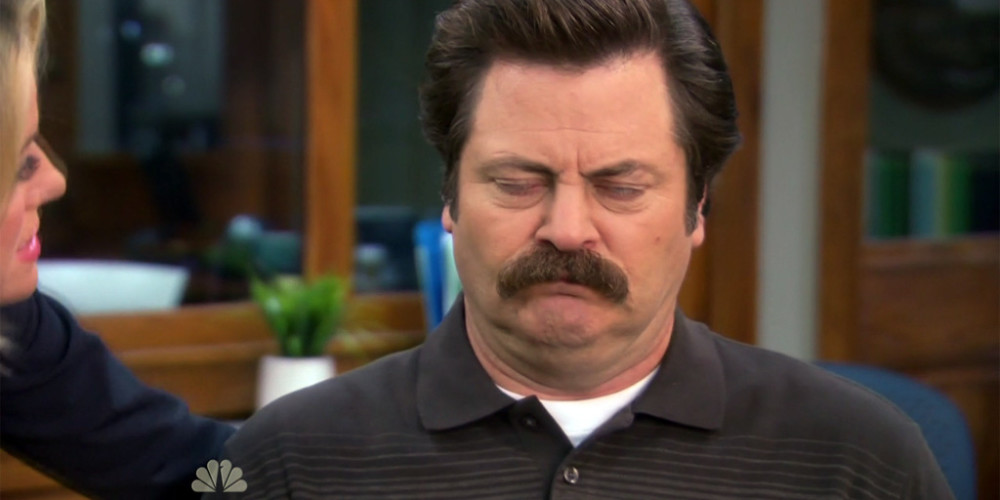 Leslie Knope tortures Ron Swanson picture5