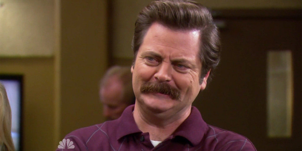 Ron Swanson's fake name is Les Vegetables