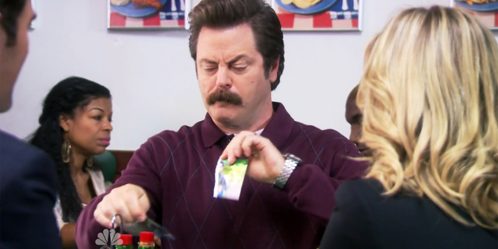 Ron Swanson is protecting his son's privacy picture2