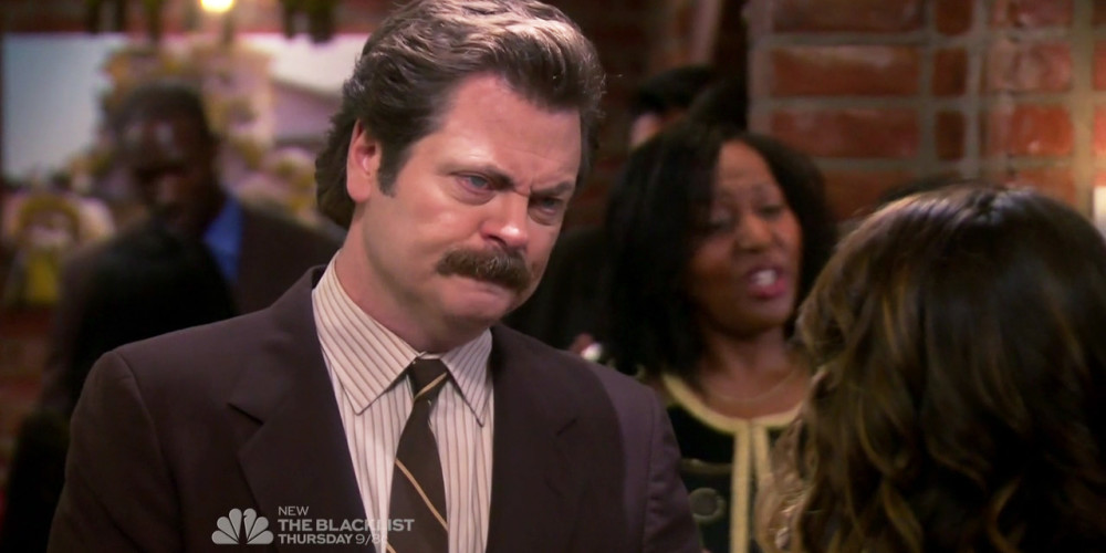 Ron Swanson comes to a realization about camouflage