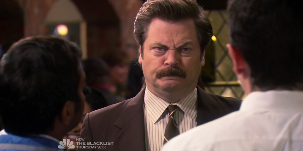 Ron Swanson gets cut off from small hamburgers and all food service picture4