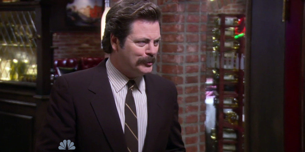 Ron Swanson and his tri-tip steak picture1