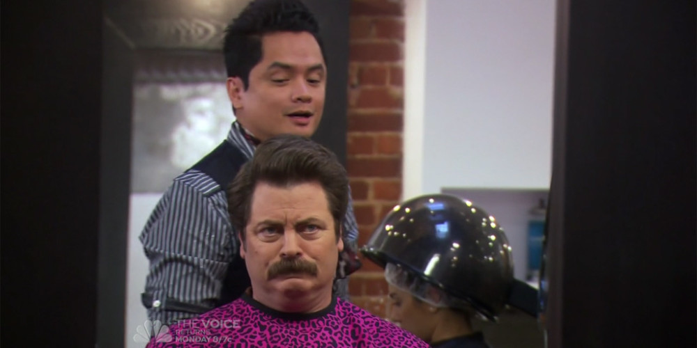 Ron Swanson and Typhoon Euro trash picture1